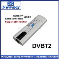 Digital satellite DVB t2 usb tv stick Tuner with antenna Remote HD TV Receiver for DVB-T2/DVB-C/FM/DAB,Wholesale Free Shipping