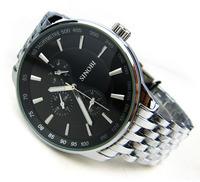 9268 Promotion Sinobi Luxury Brand Watches Men Quartz Men Full steel Watch business  Watches Male Clock Hours Relogio Masculino