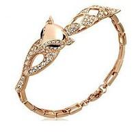 2014 Popular Fashion Sexy Fox Bracelet Female Bracelets & Bangles Crystal Jewelry for Women Gold Bracelet Bangles ML-308-2