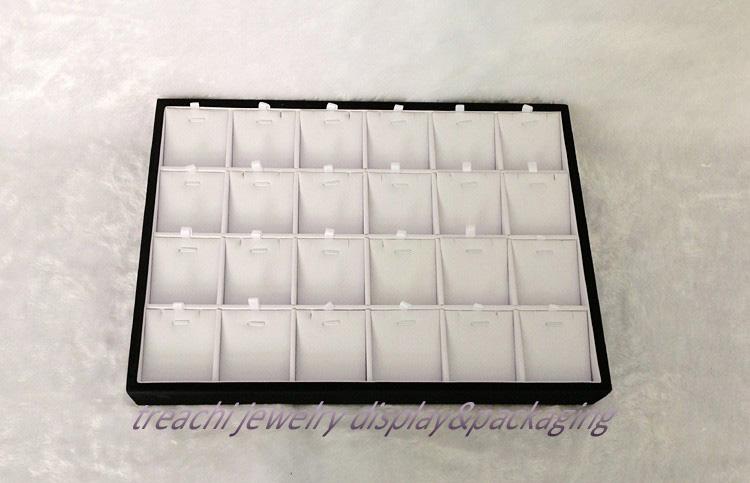 Earrings Pendant Display Tray Box Jewelry Display Black and White Pendant Display Shelf,FREE SHIPPING(China (Mainland))