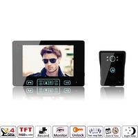 """7"""" LCD Wireless Intercom Video Door Phone Doorbell Camera EU plug"""