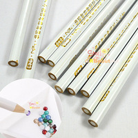10pcs/lot New 2014 White Nail Art Rhinestones Gems Picking 3D Design Painter Pencils