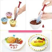 2014 New Fashion  1xSilicone Cake Cream Chocolate Decorating Pen,Cheap Mini Cake Tools
