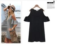2014 new summer dress  women clothes butterfly sleeve cotton cute strapless dress plus size XXXL novelty t shirt girl dress