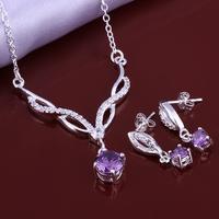 Wholsale new FASHION jewelry  925 Sterling Silver earrings necklace set Penoyjewelry LKNSPCS644