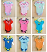 2014 New baby grils jumpsuits & baby bodysuits 3pcs/lot cotton newborn wholesale short sleeve baby boys clothing set