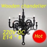 white black  D700mm  Moooi Paper lustre wooden Chandelier Pendant Lamp,6 E14 bulbs indoor lighting