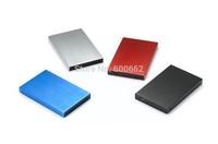 "Metal USB 2.0 HDD Hard Drive Disk External Enclosure 2.5"" SATA Case Box extern hdd mobile hard drive"