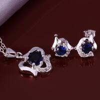 Wholsale new FASHION jewelry  925 Sterling Silver earrings necklace set Penoyjewelry LKNSPCS662