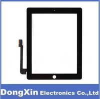 200PCS 100% New touch screen For ipad3 iPad 3 ipad4 iPad 4 Touch Digitizer Screen Glass replacement  with  free adhensive