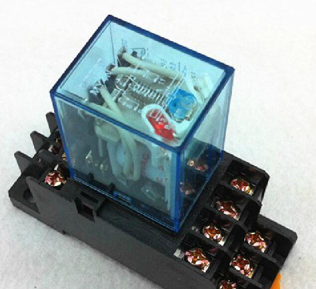 Relay HH54P DC12V DC24V AC220V MY4NJ Arrange ushering silver contact relay With the socket Buy please select 12 v, 24 v(China (Mainland))