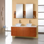 Anitque Cherry Wood Bathroom Cabinets AM-027