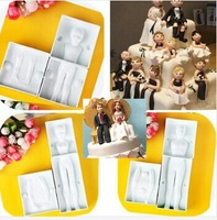 Free shipping !!! 3D Man Women Child Shape Modeling Cake Decorating Fondant Cutter Gum Paste Mold 02043