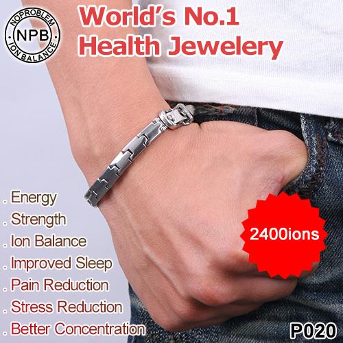 P020 Noproblem therapy anion band power health Bracelet sport(China (Mainland))