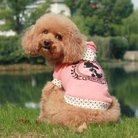 Fresh small dog clothes polo summer pure cotton vest t-shirt cat teddy pet clothes
