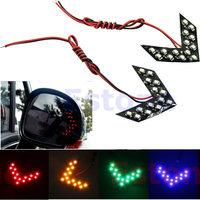 2pcs 4 Colors 14-SMD LED Arrow Panels Light For Car Side Mirror Turn Signal Indicator Light