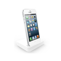 Free Shipping Dock Charger 2 in 1 Set (White Dock Charger + USB Cable) Support IOS 7 for iPhone 5/5S iTouch 5