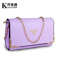 2014 Fashion Chain Women's Leather Handbags Casual Elegant Lady's Party Clutch Bags Candy Color Women's Messenger Bags