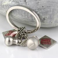 M85008 Chinese Style Silvery Gourd & Peach Keychain Key Chain Ring Keyring Keyfob