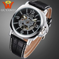 Free Shipping Men's Mechanical Watch Simple Style OUYAWEI Watches Factory Direct 10 Meters Waterproof Made In China On Sale