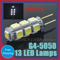 SMD 5050 3W Corn Crystal Chandelier Spotlight Pendant DC12V refrigerator light Indicator Desk Bulb 10 pcs Mini G4 13 LED lamps