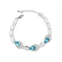 Crystal Bracelet Women Sterling Silver Jewelry Austrian Crystal Bangles Drop Water Bracelets & Bangles ML-260