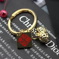 M85014 Creative Fashion Golden Peanut Keychain Key Chain Ring Keyring Keyfob