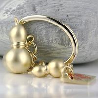 M85009 Matte Golden Chinese Style Gourd Keychain Key Chain Ring Keyring Keyfob Keyrings