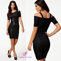 European American Women Lace Summer Dress Sexy Black Bodycon slim Dress Embroidery Vestidos Novos Casual Clothing Slim dress