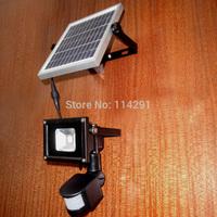 solar power 10W PIR Motion Sensor Flood Light pir sensor lights reflector led parking outdoor light 10w led flood light