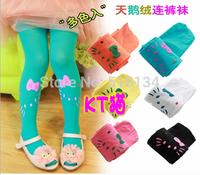 girl sock trousers children spring summer autumn leggings pants cartoon kitty 12 colors kids dress pants
