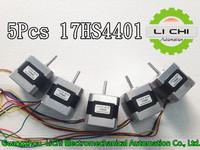 5pcs 4-lead Nema17 Stepper Motor 42 motor Nema 17 motor 42BYGH 1.7A (17HS4401) motor for CNC XYZ