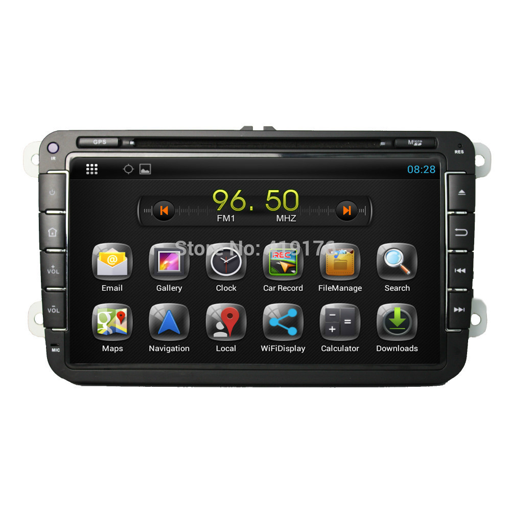 Free Shipping!100%Pure Android 4.2 Car DVD/PC/GPS Player for VW Golf Passat Polo With Canbus Capacitive Screen Wifi Support DVR(China (Mainland))