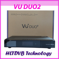 Hot Selling vu duo 2 high quality vu duo2 Enigma 2 Linux System Newest twin tuner 2*1300mhz  dvb-s2 HD vu solo 2 Free Shipping