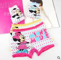 Free shipping 12pcs/lot New Disny micky modal children panties, girls boxer underwear lace panties