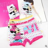 Free shipping 12pcs/lot New Disny micky modal children panties, girls boxer underwear lace panties
