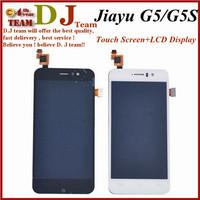 100% original jiayu G5 JY G5 touch Screen Digitizer + LCD display screen for jiayu G5 cell phone