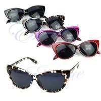 Retro Style Sexy Cat Eye Sunglasses Outdoor Fashion Women Punk Shades Eyeglasses