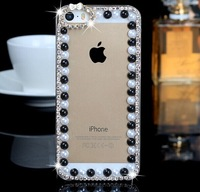 Free Shipping  Newest Bowknot Pearl Diamond Case for  iPhone 5 /5s
