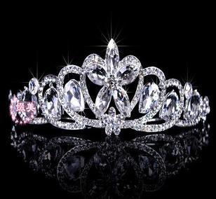 W14 The new Korean rhinestone tiara crown jewel bridal wedding dress accessories B16