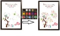 Free Shipping Wedding Fingerprint Tree Fingerprint Painting Wedding Sign with 16pcs inkpad size 90*120cm with 400 fingers