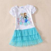 FROZEN Princess Dress Girls dresses Tutu Dress Tutu Dress Kids summer vestidos Free Shipping