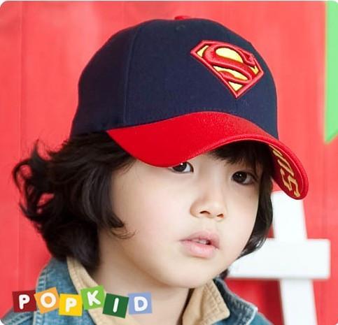 2015 Summer New Children's Superman Baseball Cap Boy Girl Unisex Kids Sun Hats Visor Free Shipping(China (Mainland))
