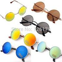 2014 New Men's and Women's Sunglass Hippie Shades Hippy 60S John Lennon Style Vintage Round Peace Sunglasses Eyewear