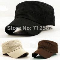 Classic Plain Vintage Army Hat Cadet Military Patrol Cap Adjustable Many Color #5679