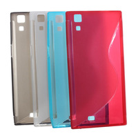 Free gift  2014 Newest High Quality silicon case for THL T100S THL T100 phone case white red blue gray four color in stock