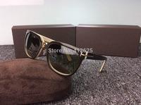 Hot Sale Free Shipping retro sunglasses tom men and women driving anti UVA polarized round frame male sunglasses