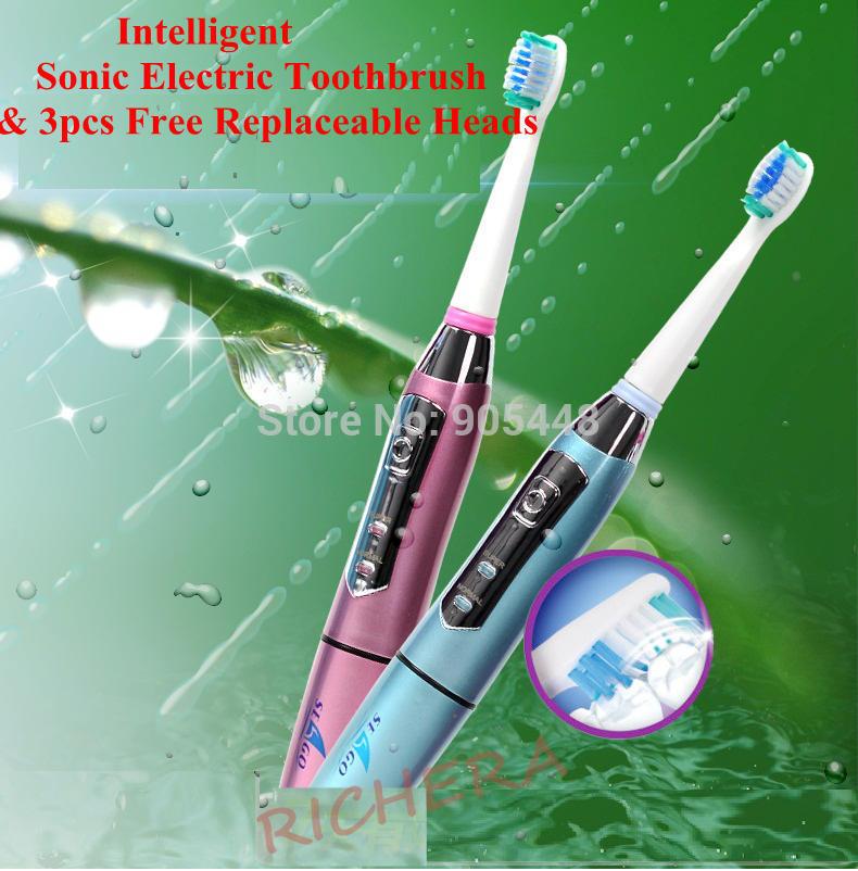 cuidado profissional massagem elétrica sonic escova com três cabeças substituíveis impermeável 35000/min limpeza dos dentes atendimento odontológico(China (Mainland))
