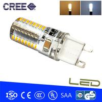 4pcs/lot G9 LED 6W 220V 3014 SMD 64LED Spot Light Warm white/Cold white 360 degree light LED Bulb Lamp Energy Saving