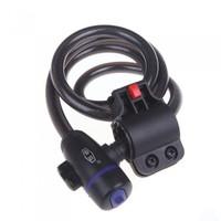 Bike Bicycle Key Bar Lock Steel Spiral Chain Cable Padlock 12mm*1200mm